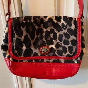 Leopard Coach crossbody bag